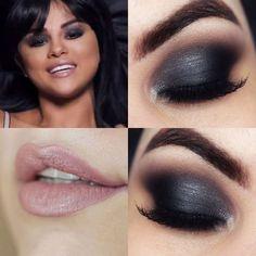 Makeup Tutorial Selena Gomez Hands To Myself   Maquiagem Chumbo -  eye-makeup Selena Gomez Short Hair, Selena Gomez Makeup, Selena Gomez Cute, Selena Gomez Outfits, Fancy Makeup, Unique Makeup, Creative Makeup Looks, Dark Makeup, Selena Quintanilla