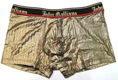 【送料無料】JohnGallianoジョンガリアーノ/【限定コレクションライン】光沢織込ゴールドラグジュアリーボクサーパンツ(ゴールド)