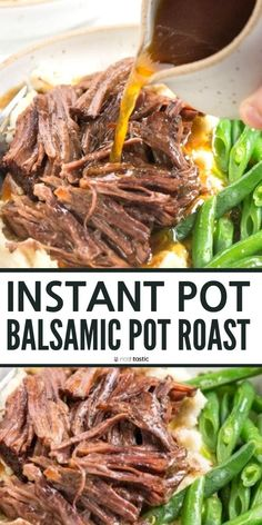 Instant pot balsamic pot roast easy quick pressure cooker beef recipe pressure cooker balsamic roast gluten free recipe paleo recipe keto low carb whole 30 clean eating healthy recipe idea easy weeknight dinner extra veggie beef chili no bean Clean Eating Recipes For Dinner, Instant Pot Dinner Recipes, Healthy Dinner Recipes, Paleo Recipes, Eating Clean, Gluten Free Recipes Instant Pot, Quick Easy Healthy Dinner, Low Carb Dinner Ideas, Beef Dinner Ideas