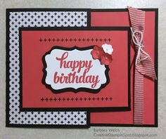 Tin of Cards - Barbara Welch - Creative Stampin' Spot - Stampin Friends Blog Hop February Black, White and One Color
