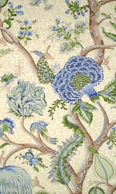 Pondicherry - Scalamandre tree of life print