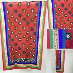 Handmade Traditional Phulkari Dupatta - SHOP NOW 1-3 day delivery. www.pinkphulkari.com