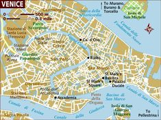 Venice Neighborhoods, or Sestieri, Map and Travel Tips