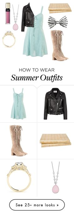 """""""summer outfit 21"""" by starojeda on Polyvore featuring Topshop, Gianvito Rossi, Clé de Peau Beauté, Macmillan and Acne Studios"""