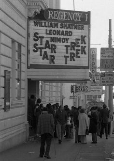 Movie Theater Marquee:The Regency 1...Van Ness Avenue...San Francisco. .. Star Trek: The Motion Picture (1979)