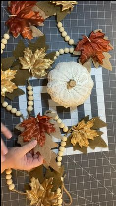 Easy Fall Crafts, Thanksgiving Crafts, Thanksgiving Decorations, Holiday Crafts, Halloween Decorations, Fall Decorations, Dollar Tree Crafts, Dollar Tree Pumpkins, Wreath Crafts