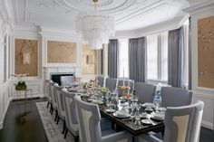 10 Sophisticated Dining Room Ideas By Katharine Pooley | Dining Room Design. Dining Room Decor. #diningroomideas #interiordesign #diningroom Read more: http://diningroomideas.eu/sophisticated-dining-room-ideas-katharine-pooley/