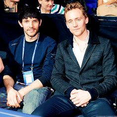Colin Morgan and Tom Hiddleston... I have to admit I am such a Merlin dork!