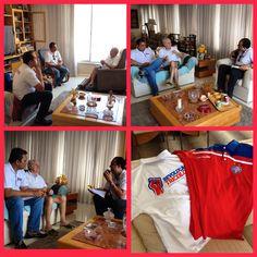 Evaristo e dirigentes do grupo Revolução Tricolor!