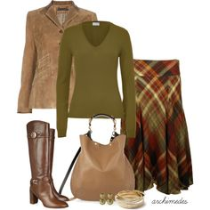 A fashion look from July 2012 featuring malo sweaters, suede leather jacket and Ralph Lauren Blue Label. Browse and shop related looks. Work Fashion, Modest Fashion, Fashion Outfits, Womens Fashion, Fashion Trends, Modest Outfits, Fall Outfits, Cute Outfits, Color Type