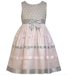 elegant grey and pink holiday dress