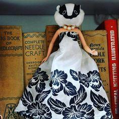 Textile designer jayne Emerson's animal head creatures #curiosities #anthromorphic #badgerhead #vintagefabric #vintagebooks #upcycleddolls #artdoll #creatures #badgerlove #animalhead #peculier #arttoy