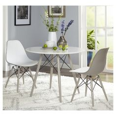 3 piece elba dining set white gray target marketing systems grey