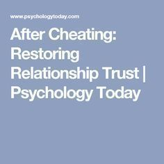 How to fix a broken relationship after cheating