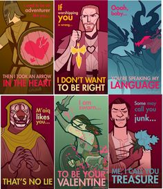 "authorjlhilton: ""I want one that says, ""You're my sweet roll, Valentine."" Or maybe, ""Let me guess, someone stole your heart."" And one with Teldryn Sero that says, ""I'm right behind you, Valentine."" That would rock. How about one for Cicero? ""Ooooh,..."