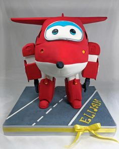 "Super Wings ""JETT"" by curiAUSSIEty custom cakes"