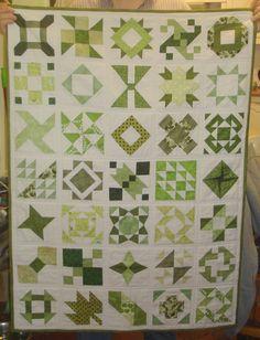 a green quilt