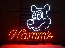 LOGO REAL GLASS NEON LIGHT BEER PUB BAR SIGN GIFT HammS T425