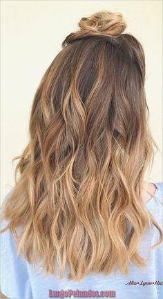 30 ideas para el color del cabello Balayage con reflejos marrones y rubios #Balayage #cabello #color