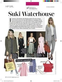 We love the CHRISTINE bag and so does LOULOU magazine! – Jeanne Lottie Mod Look, Suki Waterhouse, Magazine Layout Design, Bradley Cooper, Our Love, Bags, Fashion, Purses, Moda