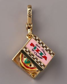 """Pizza Box Charm by Juicy Couture: 2"""" long. On sale $39. #Charm #Juicy_Couture"""