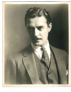 """John Gilbert - Silent Movie Super-star, unable to merit the same with the advent of the """"Talkies"""".  Famed for his on-screen persona of romantic male leads; had tempestuous relationship with Greta Garbo.  Married four times and died before he was 40 years old."""