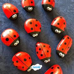Twinkl number stones We love Charlotte's amazing ladybird number stones – don't…