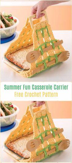 Crochet Summer FunCasserole Carrier Free Pattern - Crochet Casserole Carrier Free Patterns