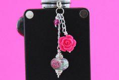 Rose and Carnation VapeCharm  Girly Vape Charm  by VapingTreasures