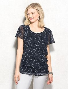 Dot Tiered Blouse