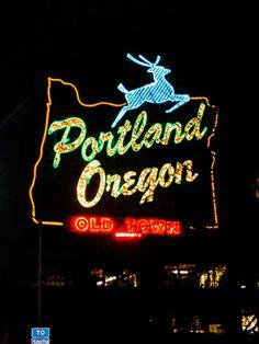 portland oregon historic white stag sign