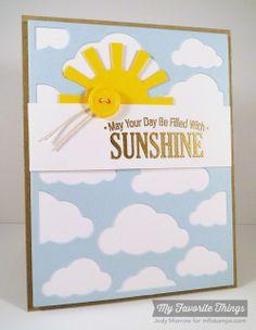 Blue Skies Ahead, Cloud Cover-Up Die-namics, Sun Moon & Stars Die-namics - Jody Morrow #mftstamps