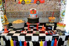Two lledega Race Car Party with Lots Really Cool Ideas via Kara's Party Ideas | KarasPartyIdeas.com #Talledega #Racing #Party #Ideas #Supplies (17)