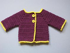 I have made literally dozens of these. Quickest baby jacket in the world. Bev's Newborn Baby Jacket pattern