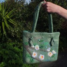 Felted bag Apple blossoms by Louisa Rull @Louisa Rull Nov 2012