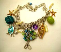 Gerard Yosca Beachcomber Silver Tone Charm Necklace $49