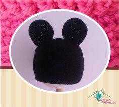 Modelo N° 25: Mickey Mouse tradicional tejido a crochet
