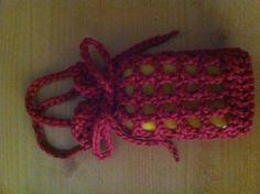 Soap Sack Doubles as Scrubber: Done! Filet Crochet, Crochet Diagram, Crochet Stitches, Crochet Scrubbies, Knitted Washcloths, Crochet Sachet, Crochet Home, Crochet Gifts, Crochet Summer