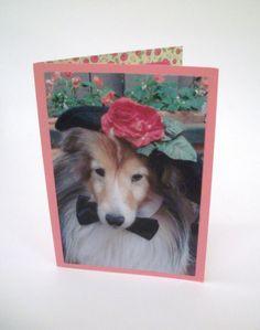 Mothers Day Card Shetland Sheepdog Card Sheltie by Lillyzcardz, $4.00