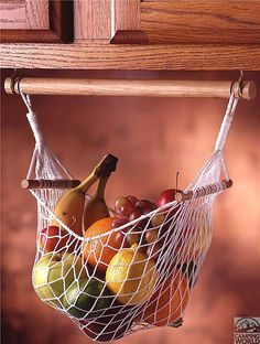 Under Cabinet Fruit & Veggie Hammock - Prodyne Enterprises - Space Savers - Camping World Would love one of these for the camper Camper Life, Rv Campers, Camper Trailers, Camper Van, Travel Trailers, Rv Trailer, Small Campers, Bus Travel, Teardrop Trailer