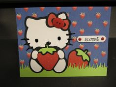 @lewistruth made using Cricut Hello Kitty Greetings cartridge and DCWV the Summer Days cards and stack.