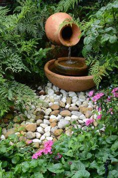Pottery fountain.