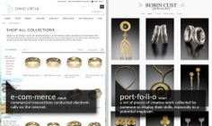 The difference between a #portfolio and #ecommerce websites. We create both and would love to help.