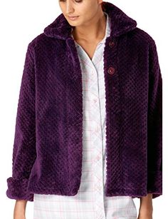 be24a1939d437 Slenderella Ladies Luxury Purple Soft Thick Waffle Fleece Collared Button  Up Bed Jacket Small UK. Amy Plunkett · Bed Jackets