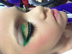 Did my sisters eye makeup for her dance competition!
