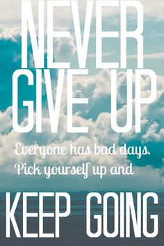Don't let anything bring you down, the key is to always keep going. #Fitspo