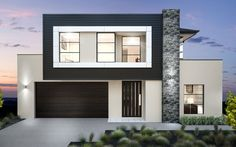 Kurmond Homes, New Home Builders Sydney. The design & building of your home is our passion, we strive for excellence with every home to maintain our quality home builders reputation. Dream House Plans, Modern House Plans, Modern House Design, Facade Design, Architecture Design, Double Storey House, Duplex Design, Facade House, House Exteriors