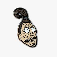 'Shrunken Head Beetlejuice' Pin by Ludlow Luna