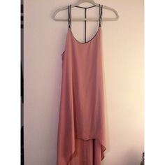 Strappy Back Hi Lo Maxi Dress Strappy Back Hi Lo Maxi Dress // Size M, Dusty Rose. This dress is so gorgeous. Super flowy, gorgeous color for any season, and fully lined so you don't have to worry about any vpl. Never been worn. PLEASE NOTE : NOT ZARA. Tagged for visibility. Purchased from a little boutique by UCLA. Zara Dresses High Low