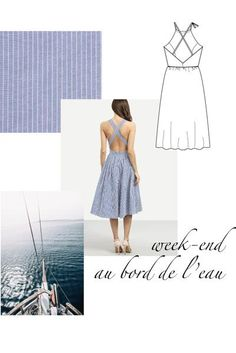 Diy Clothing, Sewing Clothes, Custom Clothes, Diy Vetement, Column Dress, Designs For Dresses, Pinafore Dress, How To Make Diy, Babydoll Dress